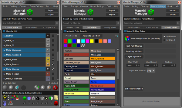Material Manager for Maya