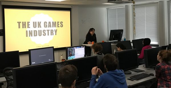 Gina Jackson Head of Games at the Imaginarium, gives industry talk Escape Games students.